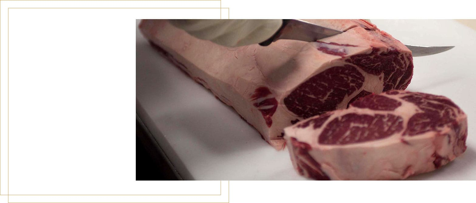 Cow Meat Being Cut